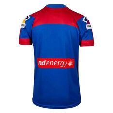 Newcastle Knights 2020 Kids Home Jersey Blue/Red 8, Blue/Red, rebel_hi-res