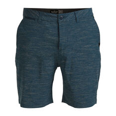 Quicksilver Mens Union Slub Amphibian 19in Board Short Blue 30, Blue, rebel_hi-res