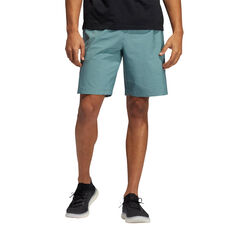 Adidas Mens Axis Woven Heathered Shorts, Green, rebel_hi-res