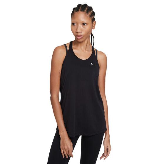 Nike Womens Dri-FIT Training Tank, Black, rebel_hi-res