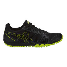Asics Gel Firestorm 3 Junior Track Shoes Black / Lime US 1, Black / Lime, rebel_hi-res