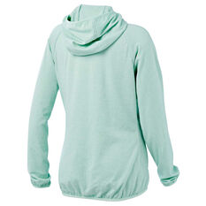 Tahwalhi Womens Glide Full Zip Hoodie Green 8, Green, rebel_hi-res