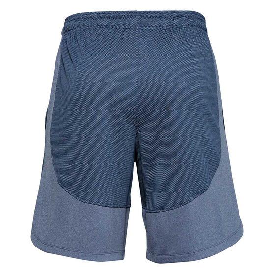 Under Armour Mens Knit Performance Training Shorts, Blue, rebel_hi-res