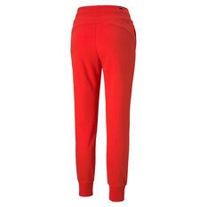 Puma Womens Essentials Sweatpants Red XS, Red, rebel_hi-res