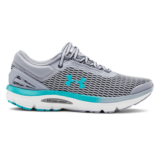Under Armour Charged Intake 3 Womens Running Shoes, Blue / Grey, rebel_hi-res
