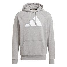 Adidas Mens FI Hoodie Grey S, Grey, rebel_hi-res