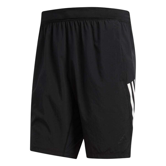 adidas Mens 4KRFT Tech Woven 3 Stripes 8in Shorts Black XS, , rebel_hi-res