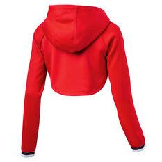 Puma Womens Varsity Cover Up Hoodie Red XS, Red, rebel_hi-res