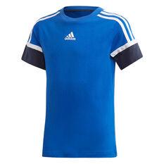 adidas Boys Bold Tee Blue/Navy 6, Blue/Navy, rebel_hi-res