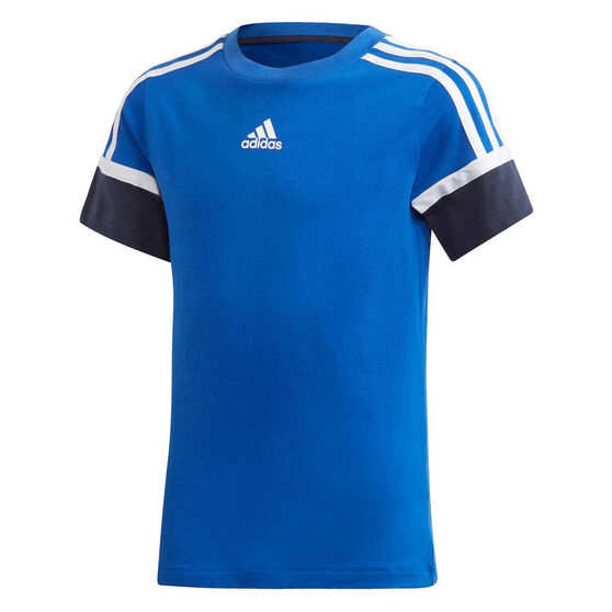 adidas Boys Bold Tee, Blue/Navy, rebel_hi-res