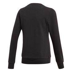 adidas Girls Essentials Linear Sweatshirt Black / White 6, Black / White, rebel_hi-res