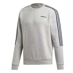adidas Mens 3-Stripes Sweatshirt Grey XS, Grey, rebel_hi-res