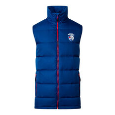 Western Bulldogs 2020 Mens Down Vest Blue S, Blue, rebel_hi-res