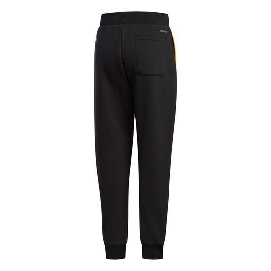 adidas Boys Training Pants, Black / Gold, rebel_hi-res