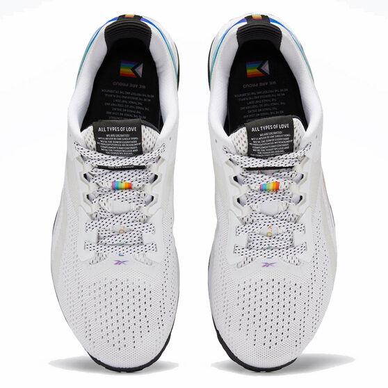 Reebok Nano X1 Pride Mens Training Shoes, White, rebel_hi-res