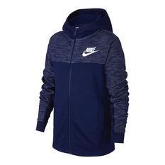 Nike Boys Advance Sportswear Hoodie Blue / White XS, , rebel_hi-res