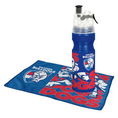 Western Bulldogs Water Bottle and Gym Towel Pack, , rebel_hi-res