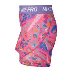 Nike Pro Girls Printed Boyshorts Print XL, Print, rebel_hi-res
