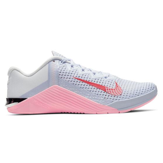 Nike Metcon 6 Womens Training Shoes, Grey/Pink, rebel_hi-res