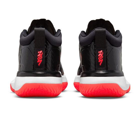 Jordan Zion 1 Black White Bright Crimson Basketball Shoes, Black, rebel_hi-res