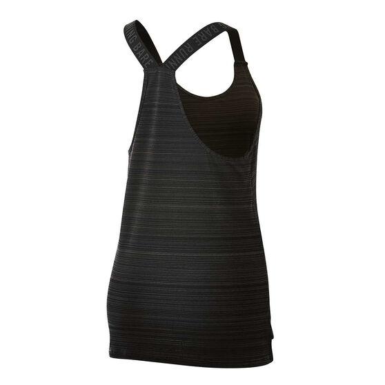 Running Bare Womens Cosmic Workout Tank, Black, rebel_hi-res