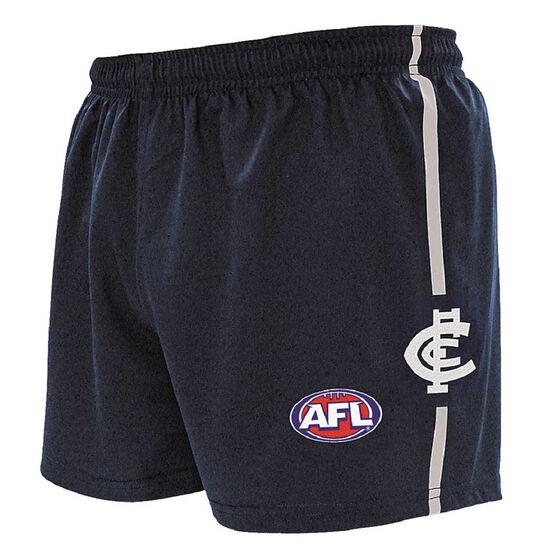 Carlton Blues Kids Home Supporter Shorts, Navy, rebel_hi-res