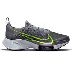 Nike Air Zoom Tempo Next% Mens Running Shoes Grey/Volt US 7, Grey/Volt, rebel_hi-res