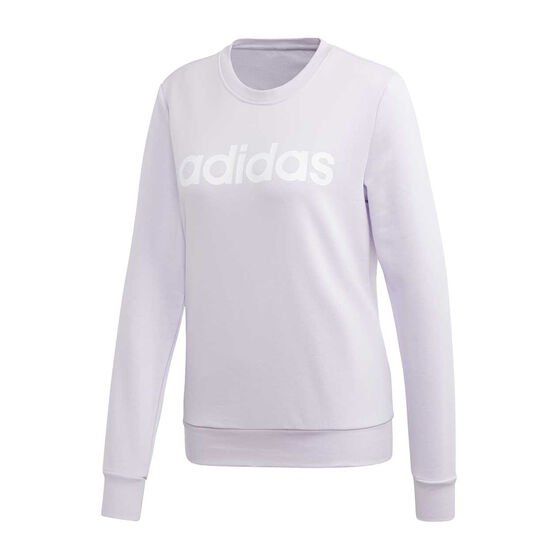 adidas Womens Essentials Linear Sweatshirt, Purple, rebel_hi-res