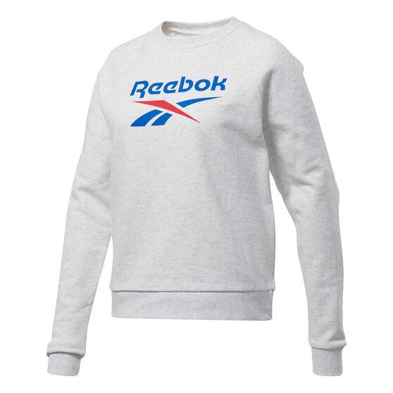 Reebok Womens Classic Vector Crew Sweatshirt, White, rebel_hi-res