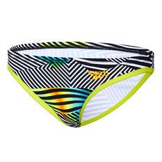 Speedo Womens Sound Waves Low Rise Swim Brief Green / Multi 8, Green / Multi, rebel_hi-res