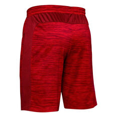 Under Armour Mens MK-1 Twist Shorts Red S, Red, rebel_hi-res