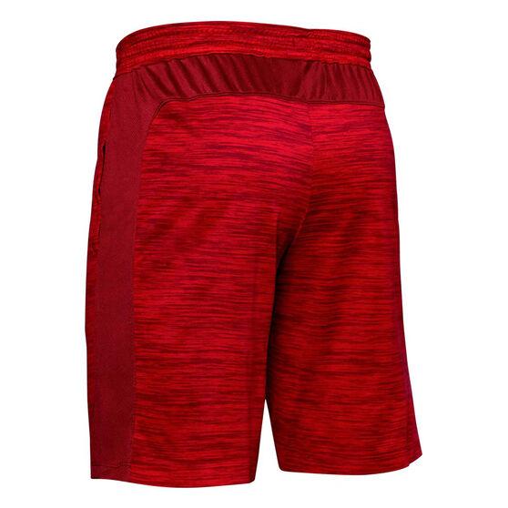 Under Armour Mens MK-1 Twist Shorts, Red, rebel_hi-res