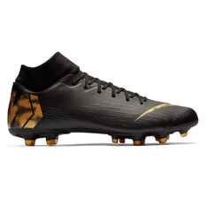 Nike Mercurial Superfly VI Academy MG Mens Football Boots Black / Gold US Mens 7 / Womens 8.5, Black / Gold, rebel_hi-res