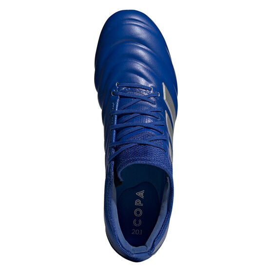 adidas Copa 20.1 Football Boots Blue/Silver US Mens 8 / Womens 9, Blue/Silver, rebel_hi-res