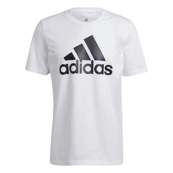 adidas Mens Essentials Big Logo Tee, White, rebel_hi-res