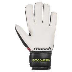 Reusch Junior Fit Control SD Open Cuff Goalkeeper Gloves Black / Red 4, Black / Red, rebel_hi-res