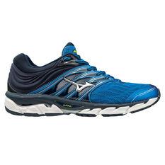 Mizuno Wave Paradox 5 Mens Running Shoes Blue / Silver US 8, Blue / Silver, rebel_hi-res