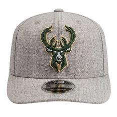 Milwaukee Bucks New Era 9FIFTY Heather Drop Cap Grey M/L, Grey, rebel_hi-res