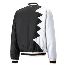 Puma Official Visit Mens Basketball Jacket Black S, Black, rebel_hi-res