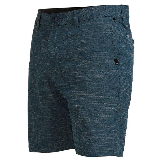 Quiksilver Mens Union Slub Amphibian 19 inch Board Short Blue 30, Blue, rebel_hi-res