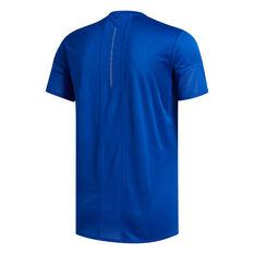 adidas Mens 25/7 Running Tee Blue S, Blue, rebel_hi-res