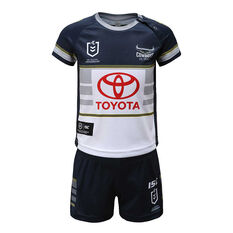 North Queensland Cowboys 2020 Infants Home Kit White / Navy 1, White / Navy, rebel_hi-res
