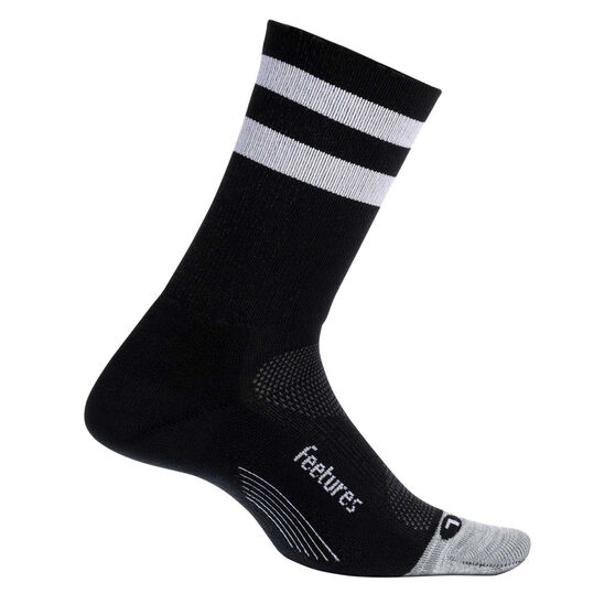 Feetures Elite Light Crew Socks, Black / White, rebel_hi-res