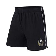 Collingwood Magpies Mens Core Training Shorts Black S, Black, rebel_hi-res