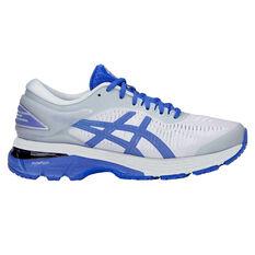 Asics GEL Kayano 25 Lite Show Womens Running Shoes Grey / Blue US 6, Grey / Blue, rebel_hi-res