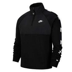 Nike Sportswear Mens Hybrid Half Zip Jacket Black XS, Black, rebel_hi-res