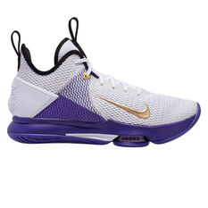 Nike LeBron Witness IV Mens Basketball Shoes White / Gold US 7, White / Gold, rebel_hi-res