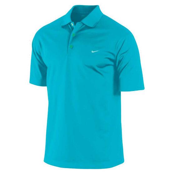 Nike Mens Dri Fit UV Tech Polo Shirt Blue S Adult, Blue, rebel_hi-res