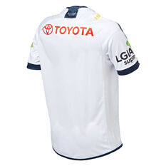 North Queensland Cowboys 2019 Mens Away Jersey White S, White, rebel_hi-res
