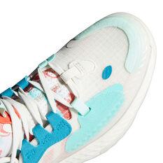 adidas Harden Vol. 5 Kids Basketball Shoes, White, rebel_hi-res